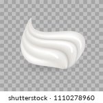 whipped cream  sweetened and... | Shutterstock .eps vector #1110278960