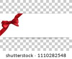 white banner with red satin...   Shutterstock .eps vector #1110282548