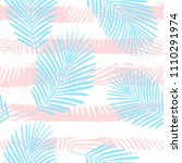 tropical pattern  palm leaves... | Shutterstock .eps vector #1110291974