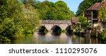 harnham bridge in salisbury ... | Shutterstock . vector #1110295076