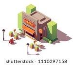 vector isometric kebab shop or... | Shutterstock .eps vector #1110297158