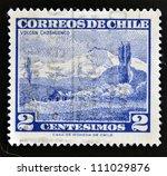 chile   circa 1960  a stamp... | Shutterstock . vector #111029876