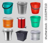 realistic 3d metal and plastic... | Shutterstock .eps vector #1110299210