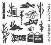 sugar cane  sugarcane plant... | Shutterstock .eps vector #1110299216
