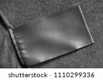 blank black clothes label on...   Shutterstock . vector #1110299336