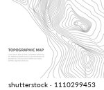 geodesy contouring land.... | Shutterstock .eps vector #1110299453