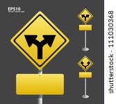 traffic sign yellow vector | Shutterstock .eps vector #111030368