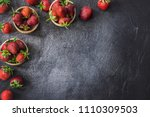 Strawberries In Wooden Bowls....