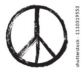 pacifist sign.peace symbol in... | Shutterstock .eps vector #1110319553