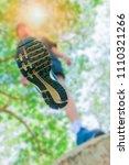 running feet male view from... | Shutterstock . vector #1110321266