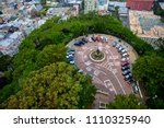 looking down from coit tower at ... | Shutterstock . vector #1110325940