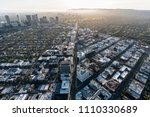 aerial view of wilshire blvd in ... | Shutterstock . vector #1110330689