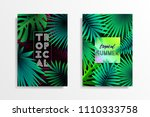 summer tropical background... | Shutterstock .eps vector #1110333758