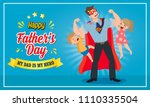 happy father's day vector... | Shutterstock .eps vector #1110335504