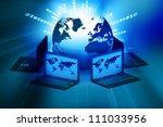 global computer network on... | Shutterstock . vector #111033956