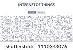 doodle vector illustration of a ... | Shutterstock .eps vector #1110343076