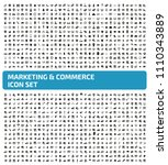 marketing and commerce vector... | Shutterstock .eps vector #1110343889
