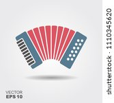 accordion isolated on gray... | Shutterstock .eps vector #1110345620