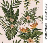 trendy illustration exotic... | Shutterstock .eps vector #1110346619