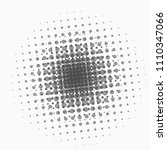 dotted abstract form. vector... | Shutterstock .eps vector #1110347066