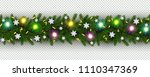 christmas and new year border... | Shutterstock .eps vector #1110347369