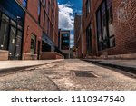 Narrow Side Street Alley With...