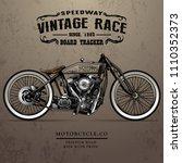 classic racing motorcycle poster   Shutterstock .eps vector #1110352373