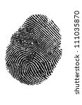 fingerprint | Shutterstock . vector #111035870