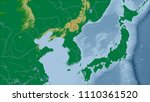 japan. close up perspective of... | Shutterstock . vector #1110361520