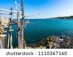 trabucco of molinella near...   Shutterstock . vector #1110367160