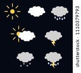 weather icons vector set | Shutterstock .eps vector #1110379793