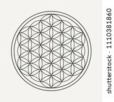 flower of life mandala in... | Shutterstock .eps vector #1110381860