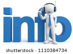 3d illustration male with... | Shutterstock . vector #1110384734