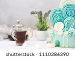 confectionery flavored cakes... | Shutterstock . vector #1110386390