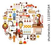 pharmaceutical laboratory  ... | Shutterstock .eps vector #111039164