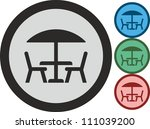 Table And Chairs  Vector  Icon