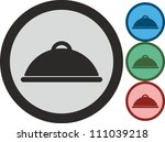 tray and lid  vector  icon | Shutterstock .eps vector #111039218