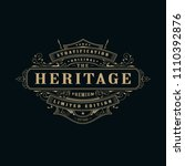 vintage label whiskey badge... | Shutterstock .eps vector #1110392876