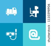 modern  simple vector icon set... | Shutterstock .eps vector #1110398906