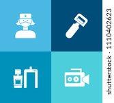 modern  simple vector icon set... | Shutterstock .eps vector #1110402623