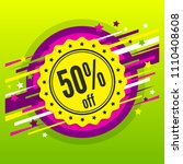 sale 50   off. discount badge ... | Shutterstock .eps vector #1110408608