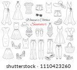 female fashion set. women's... | Shutterstock .eps vector #1110423260