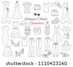 female fashion set. women's... | Shutterstock .eps vector #1110423260