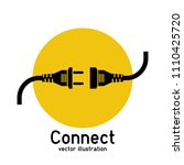 connection concept  icon... | Shutterstock .eps vector #1110425720