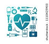 medical concept background... | Shutterstock .eps vector #1110425903