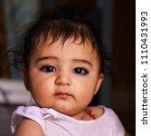 very cute   innocent indian kid  | Shutterstock . vector #1110431993