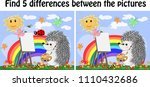 find the differences between... | Shutterstock .eps vector #1110432686