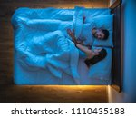 the couple sleeping on the bed. ... | Shutterstock . vector #1110435188
