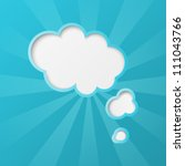paper clouds background with... | Shutterstock .eps vector #111043766