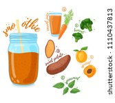 orange cocktail for healthy... | Shutterstock .eps vector #1110437813